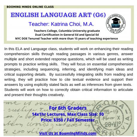 English Language Art (G6)
