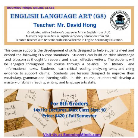 English Language Art G8