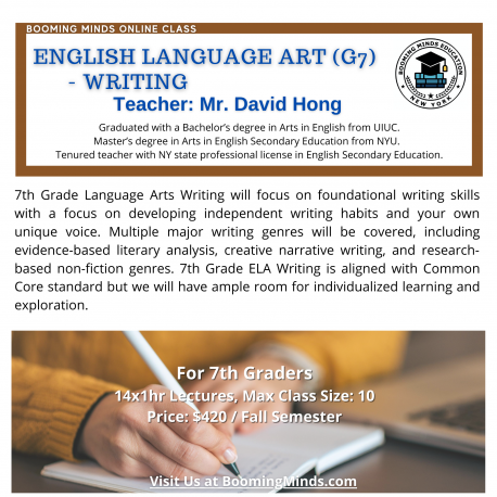 English Language Art G7 Writing