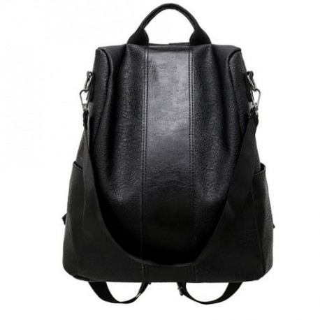 Anti-Thief Leather Backpack