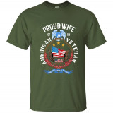 Proud Wife Of An American Veteran July 4th Soldier T-Shirt Mens T Shirt For Mens Tshirt For Men Basic Solid Summer Tops