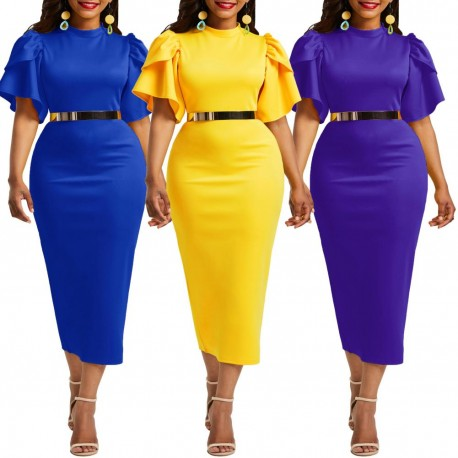 Women/'s V Neck Power Trip Multi Floral Print Party Sleeveless Sheath Midi Dress