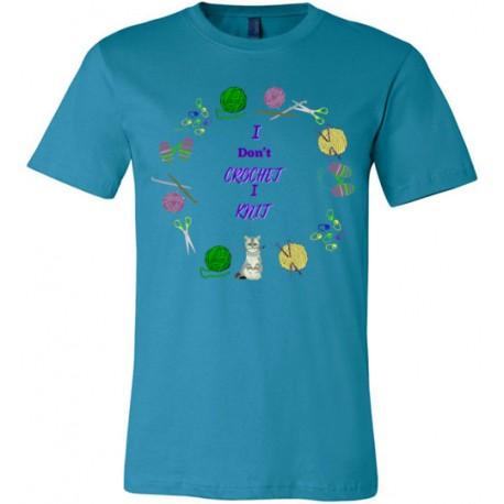 I dont crochet i knit - Canvas Unisex T-Shirt