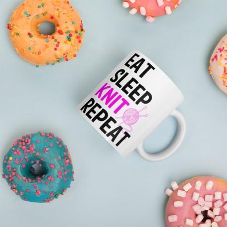 Eat Sleep Knit Repeat - Mug