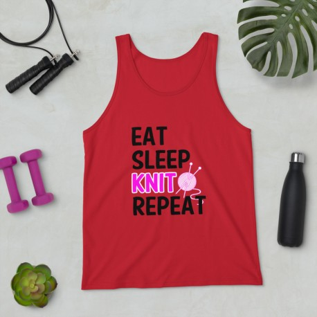 Eat Sleep knit Repeat - Unisex Tank Top
