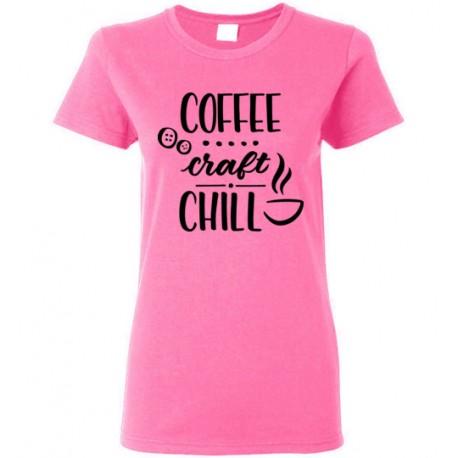 Coffee Craft Chill - Gildan Ladies Short-Sleeve