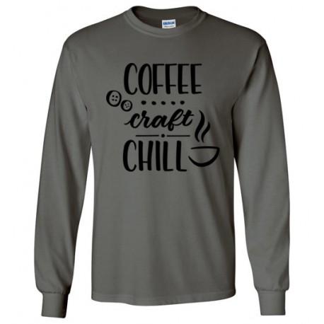 Coffee Craft Chill - Gildan Long Sleeve T-Shirt