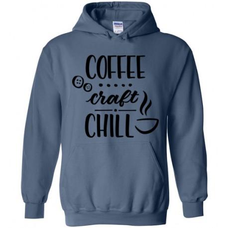 Coffee Craft Chill - Gildan Heavy Blend Hoodie
