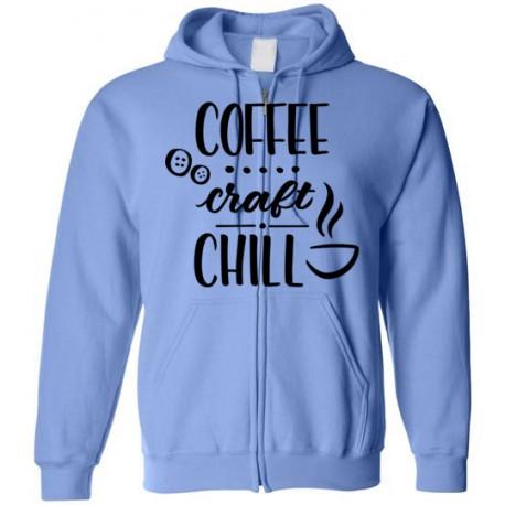 Coffee Craft Chill - Gildan Zip Hoodie