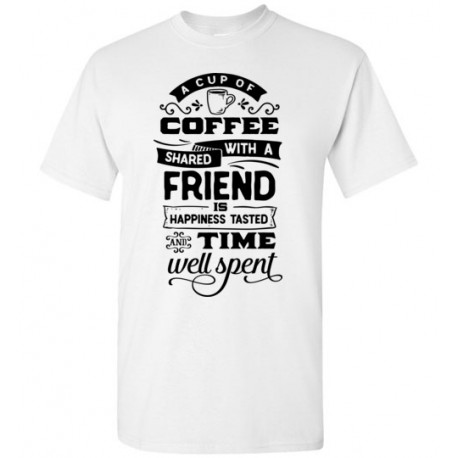 A Cup of Coffee Shared - Gildan Short-Sleeve T-Shirt