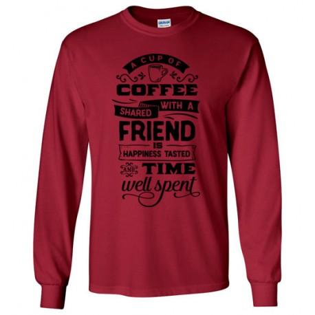 A Cup of Coffee Shared - Gildan Long Sleeve T-Shirt