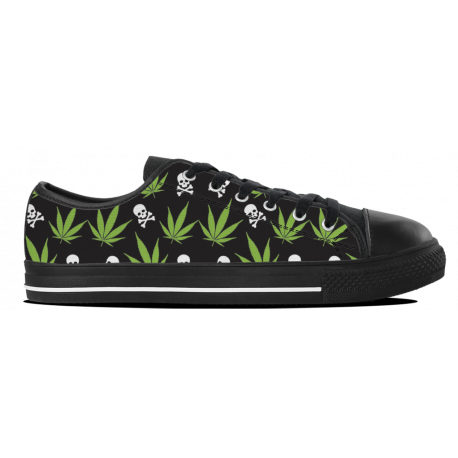 Weed Pattern - Womens Lowtop