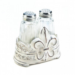 Fleur-De-Lis Salt And Pepper Shakers Set