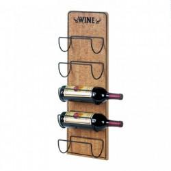 Rustic Wood 5-Bottle Wall-Mounted Wine Rack