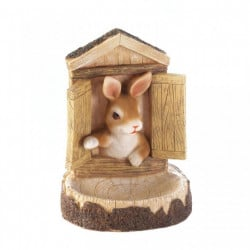 Wall-Mounted Bunny Bird Feeder