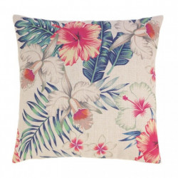 Hibiscus And Palm Decorative Throw Pillow