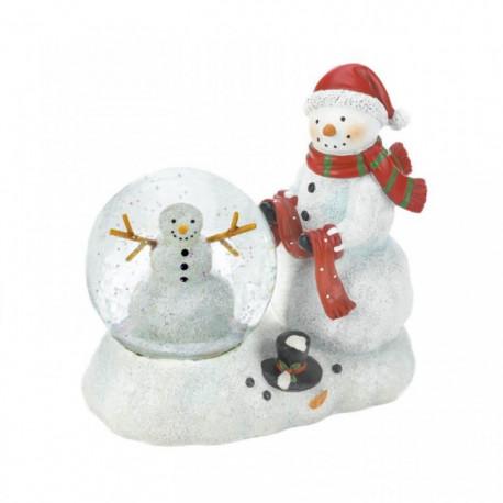 Snowman Duo LED Snow Globe