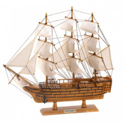 HMS Victory Wood & Canvas Ship Decor