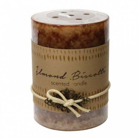 Almond Biscotti Scented Pillar Candle - 4 inches