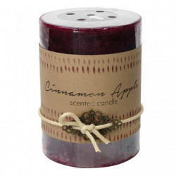 Cinnamon Apple Scented Pillar Candle - 4 inches