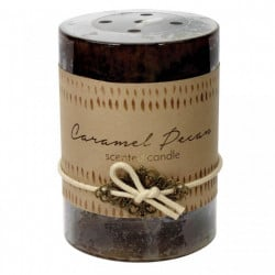 Caramel Pecan Scented Pillar Candle - 4 inches