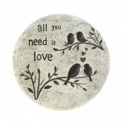 All You Need Is Love Cement Stepping Stone