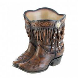 Western Fringed Cowboy Boots Planter