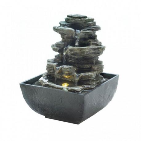 Mini Waterfalls Tabletop Electric Water Fountain