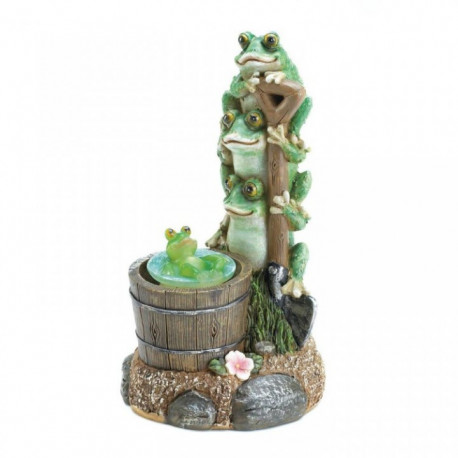 Solar Light-Up Rotating Frog Garden Decor