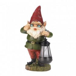Garden Gnome with Glasses Solar Light