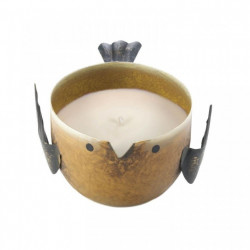 Key Lime Candle In Yellow Metal Birdie