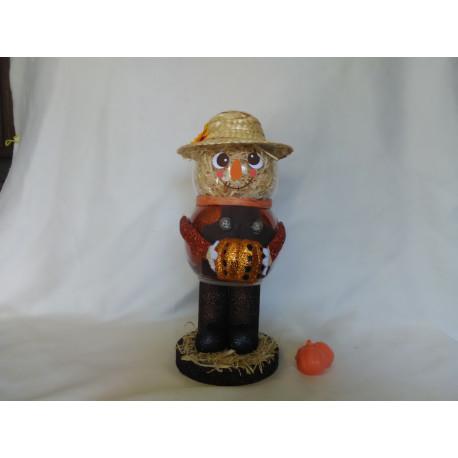 Handmade Glass Scarecrow