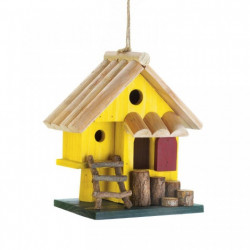 Bright Yellow Multi-Level Bird House