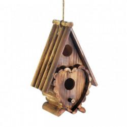Heart Shape Rustic Wood Birdhouse