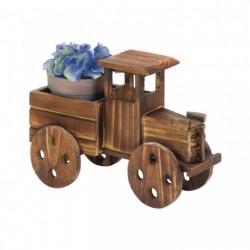Rustic Wood Antique Truck Planter
