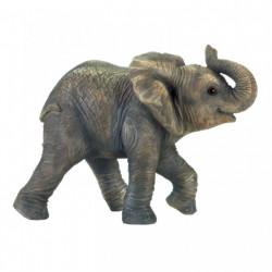 Realistic Happy Elephant Figurine
