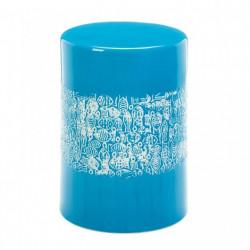 Blue School Of Fish Ceramic Stool Table