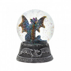 Blue Dragon Glitter Snow Globe