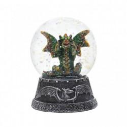 Green Dragon Glitter Snow Globe