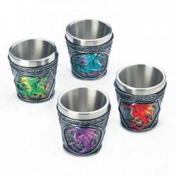 Mythical Dragons Shot Glasses Set of 4