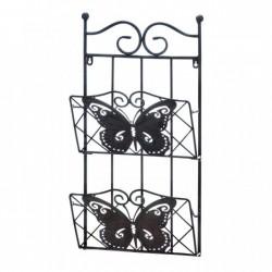Metal Butterfly Double Wall Rack