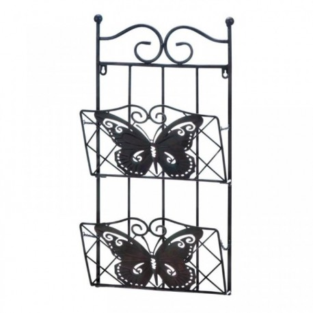 Metal Butterfly Double Wall Rack