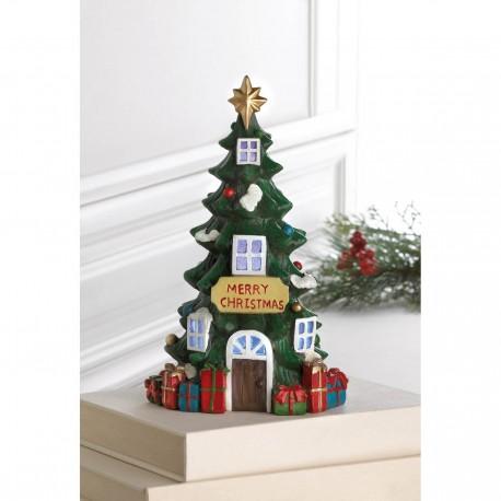 Light Up Merry Christmas Tree House
