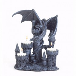 Dragon on Castle Tealight Candle Holder
