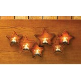 Iron Stars Wall Candle Holder