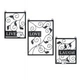 Live, Love, Laugh Candle Wall Sconce Decor