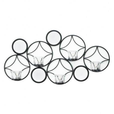 Retro Metal Wall Sconce with Mirrors