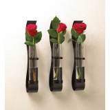 Set of 3 Wall Vases with Glass Cylinders
