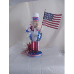 Handmade Glass Uncle Sam
