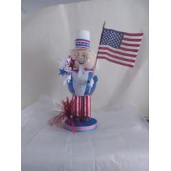 Handmade Glass Uncle Sam